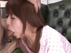 Favourable stud acquires rapturous blowjob from sexy Oriental playgirl