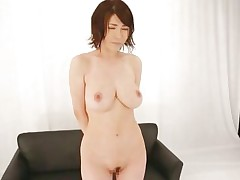 Akane is a natural beauty, this babe has a pair of superb breasts, sexy legs and a cute face that demands for a few loads of jizz on it. She is in front of an audience and needs to give her best at showing these guys and us what a worthless whore this babe is. Akane spreads her legs wide and shows her pussy previous to rubbing it.