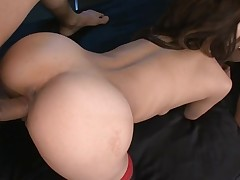 Taut cookie slut rams a obese marital-device in her indecent cleft making it wet