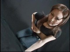 Asian babe with lactating mambos squeezes and squirts