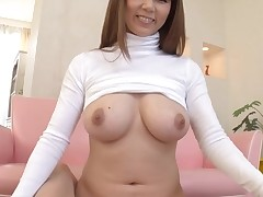Horny Oriental with big perky mangos thrills with juicy oral job