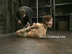 Delicate sexy oriental babe meets brutality and violence