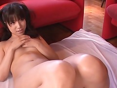 Breasty Oriental charms a palpitating pecker with wet sucking
