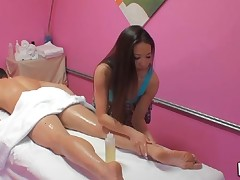 Hawt and passionate fucking takes place in massage room